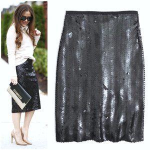 J. CREW Sequin Herringbone Pencil Skirt Gray 00